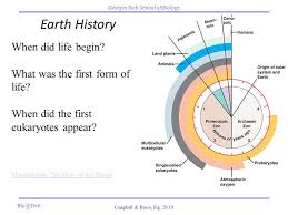 earth history when did begin what was the form of
