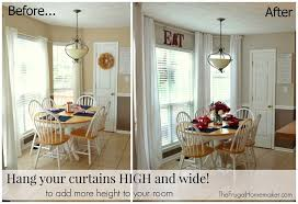 Height Of Curtains Inspiration Magnificent Hanging Curtains At Ceiling Height Inspiration With No