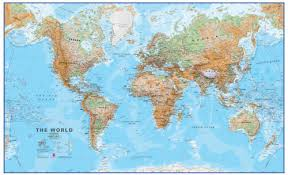 wall maps large world wall map physical without flags wm912 maps