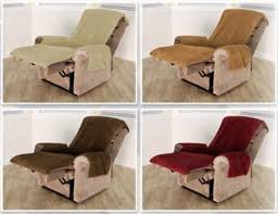 slipcover for recliner chair snuggle up fleece chair cover with pockets
