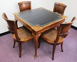 ching game table and 4 william switzer chairs