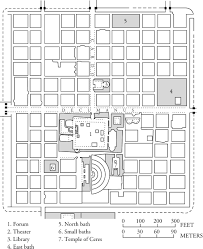 ancient roman villa floor plan map of the ancient roman settlement of timgad algeria roman