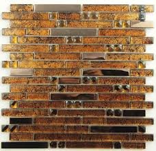 stainless steel glass mosaic tile ssmt149 gold metallic mosaic