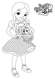 Wizard Of Oz Coloring Pages Dorothy Gale Coloringstar Wizard Of Oz Coloring Pages