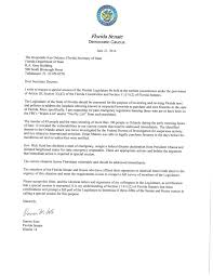 Write Certification Letter Florida Democrats Call For A Vote On Special Session Florida
