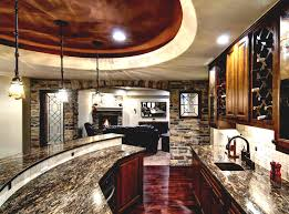 basement corner wet bar ideas