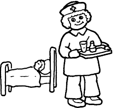 nurse coloring page free download