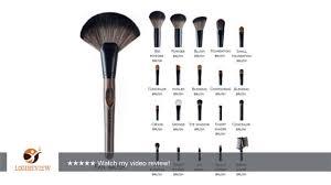 la ferra high quality makeup brush set with soft leather case