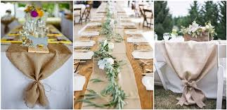 burlap wedding 22 rustic burlap wedding table runner ideas you will