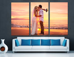 Home Interiors And Gifts Framed Art Canvas Split Wedding Anniversary Gift For Couples From Photos