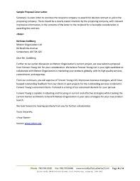 proposal cover letter examples gallery letter samples format