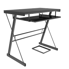 Metal And Glass Computer Desks Becker Computer Desk In Black