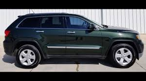 jeep cherokee green 2011 jeep grand cherokee laredo green t808310 4wd youtube