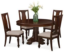 Round Dining Room Tables For 4 by Vienna Round Dining Table And 4 Side Chairs Merlot Value City