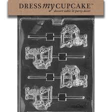wilton halloween candy molds amazon com dress my cupcake chocolate candy mold carousel horse