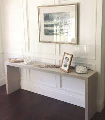 ikea console hack white gold ikea hack malm table to grasscloth console by alicia
