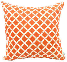 Orange Patio Cushions by Outdoor Bamboo Large Pillow Contemporary Outdoor Cushions And