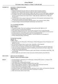 web developer resume ui web developer resume sles velvet