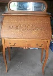 Antique Office Desks For Sale Antique Oak Slant Front Writing Desk Ornate