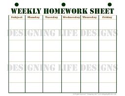 week planner template excel weekly printable images gallery category page 6 printoback com 4 images of printable weekly homework schedule