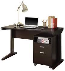 coaster fine furniture casual cappuccino computer desk with open