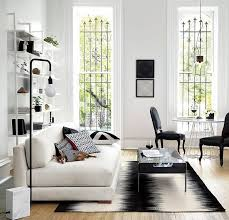 Black And White Modern Rugs Create Drama With Black Carpets And Rugs