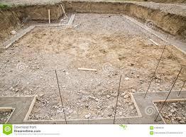 construction excavation footings rebar stock photo image 64646543