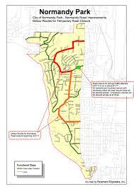 Normandy Map Street Closure For Normandy Road Sidewalk Improvements Begins