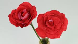 diy paper rose step by step flower making tutorial youtube