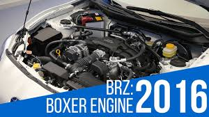 subaru boxer engine 2016 subaru brz boxer engine youtube