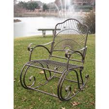 Iron Rocking Patio Chairs Patio Rocking Chair Iron Porch Rocker Outdoor Chair Lawn Furniture