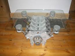 old glass table ls v8 engine table
