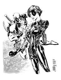 deadpool u0026 wolverine race for domino jun bob kim draws comic art