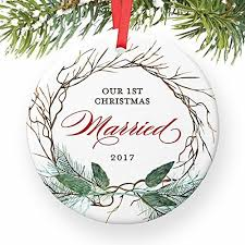 1st year married ornament 2017 ornament for