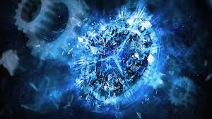 blue clocks shattered digital art artwork machinery broken