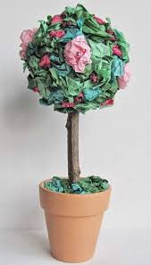 Paper Rose Topiary - tissue paper flower topiary woo jr kids activities