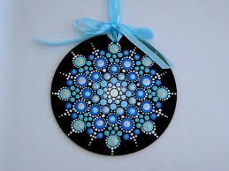 handmade tree ornament mandala snowflake looks like