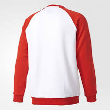 latest adidas nqd11 white core red sst sweatshirt for men sale