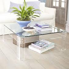 decorate lucite coffee table