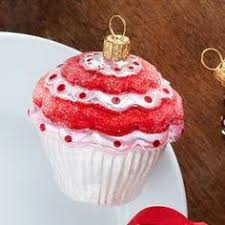pink cupcake glass ornament pink cupcakes and ornament