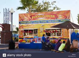 funnel cake stall kemah boardwalk houston texas usa stock