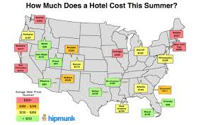 Sonoma California Map The Cheapest And Most Expensive Cities To Book A Hotel This