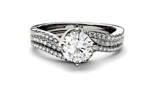 engagement sets moissanite bridal sets engagement ring sets charles colvard