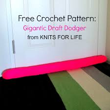 Free Crochet Patterns For Home Decor Free Crochet Pattern Draft Dodger Knits For Life