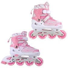roller skates with flashing lights adjustable flashing inline skates all wheels light up fun