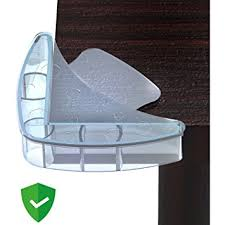 safety bumpers for tables amazon com mekudos corner guards baby proofing clear 4 pack