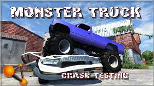 monster truck jam videos youtube beamng drive monster truck crash testing 61 youtube