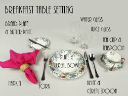 how to set a table for breakfast how to set breakfast table loris decoration