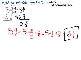 Mixed Fractions Worksheet Subtracting Mixed Numbers With Unlike Denominators Boxfirepress