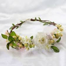 flowers for hair wreath girl flower crown bridal hair accessories artificial